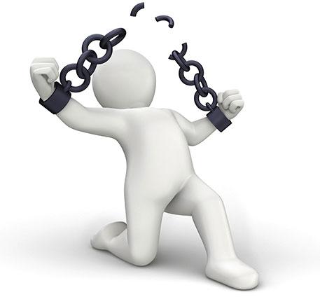figure breaking chain